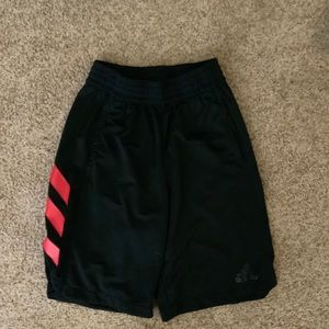 Men's adidas red and black shorts